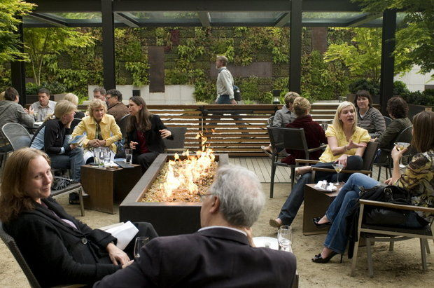 photo: Nel Centro's courtyard patio. (Stephania Yao/The Oregonian)