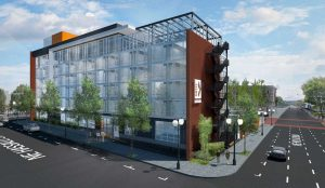 Hotel Eastlund rendering, Holst Architecture