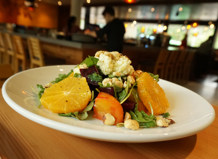 photo: Chef David Machado's warm ricotta and beet salad