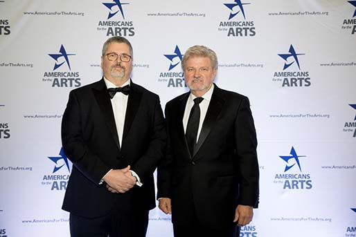 David Machado receiving the Arts&Business Partnership Award 2019, Photograph by Rana Faure, courtesy of Americans for the Arts.